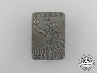 A 1938 KDF International Championships in Berlin Badge