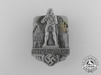 A 1936 NSDAP Gautag Westfalen-South (Dortmund) Badge by Walgo