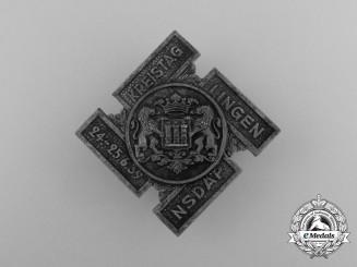 A 1939 NSDAP Lingen District Council Day Badge