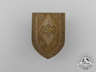 A 1934 HJ & DAF Joint Reichs Occupational Skills Competition Badge