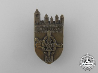 A 1933 NSKOV (National Socialist War Victim's Care) Mittelfranken Remembrance Day Badge