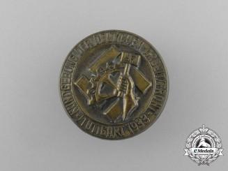 A 1933 Stuttgart NSBO (National Socialist Factory Cell Organization) Rally Badge