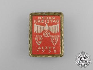 A 1938 Azley NSDAP District Council Day Badge