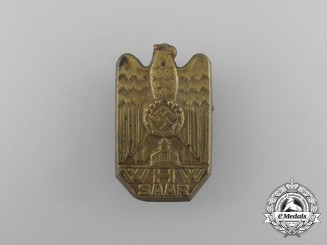 A Third Reich Period WHW (Winter Relief of the German People) Saar Donation Badge