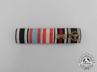 A First War Hesse and NSDAP Long Service Ribbon Bar