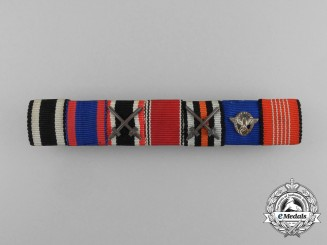 Germany. A First & Second War Police Long Service Olympic Ribbon Bar
