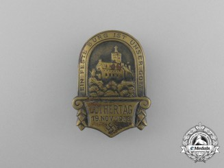 "A 1933 ""The Mighty Fortress is our God"" Luther Day Badge"