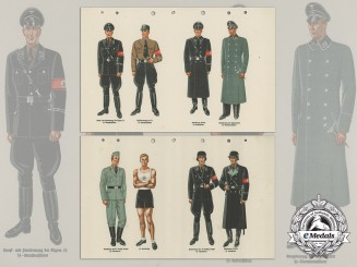 Two Page Wartime Reference for SS Uniforms