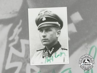A Post War Signed Photo of SS-Hauptsturmführer Siegfried Brosow