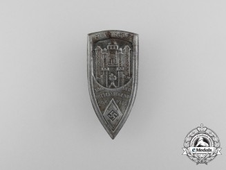 """A 1934 Meiningen """"Day of the HJ"""" Badge"""