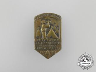 A 1934 HJ  Bann 213 Pentecost Tent Camp Exhibition Badge