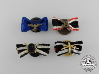 Four First and Second War Award Boutonniere