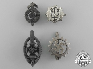 A Grouping of Four Third Reich Period Badges
