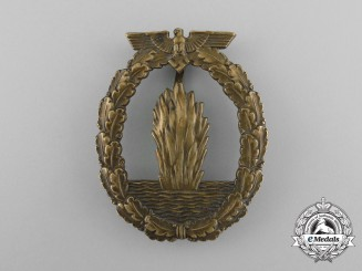 An Early War Kriegsmarine Minesweeper War Badge