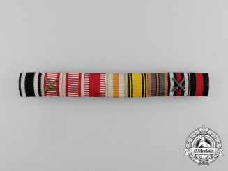 A First & Second War Austrian Medal Ribbon Bar with Nine Awards