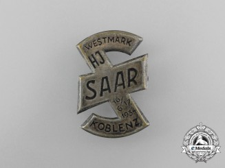 A 1934 HJ Westmark-Saar-Koblenz Rally Badge