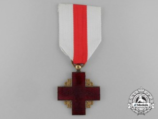 A French Red Cross Service Medal; Gold Grade