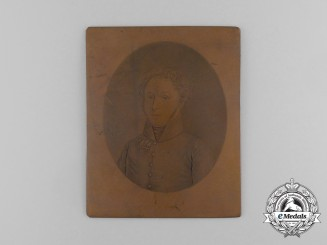 An Austrian Officer Portrait Printing Plate