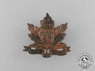 "A First War 97th Infantry Battalion ""Toronto Americans"" Cap Badge; First Version"