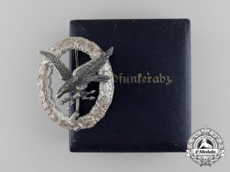 An Early & Fine Quality Luftwaffe Radio Operator & Air Gunner Badge by Assman & Söhne