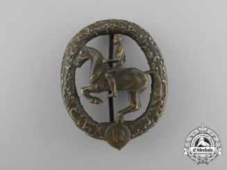 A Second War German Equestrian/Horseman's Badge by Christian Lauer