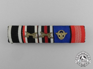 A First War German Olympic & Police Long Service Ribbon Bar