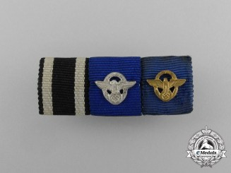 A First War & German Police Long Service Medal Ribbon Bar