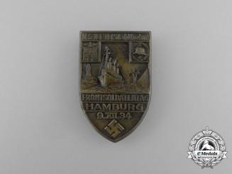 "A 1934 ""Der Stahlhelm"" Hamburg Day of the Front-Fighter Veterans Badge"