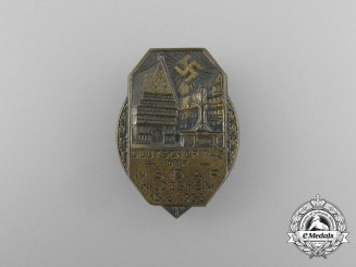 """A 1933 German Day of the NSDAP in Hildesheim"""" Festival Badge"""
