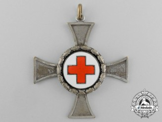 A DRK (German Red Cross) Sister's Cross; Silver Grade with Wreath