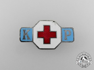 A DRK (German Red Cross) Sisterhood Badge; Numbered