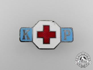 A DRK (German Red Cross) Sisterhood Badge; Numbered