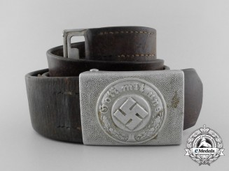 A German Police Enlisted Man's Belt with Buckle by Richard Simm & Sohne
