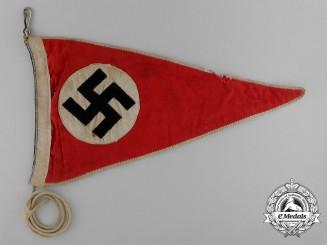 An NSDAP Swastika Car Pennant