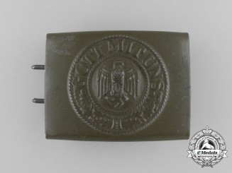 A Wehrmacht Heer Deutsches Afrikakorps (DAK) Belt Buckle by Richard Simm & Söhne