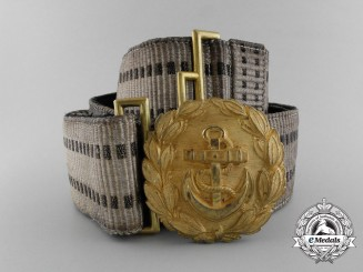 A Kriegsmarine Line Officer's Brocade Dress Belt