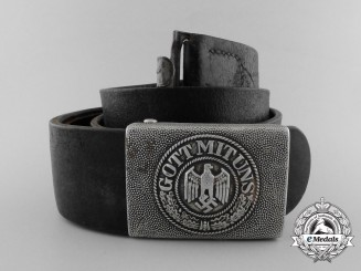 An Army (Heer) Enlisted Man's Belt with Buckle by by J.Deutschbein Euskirchen 1938