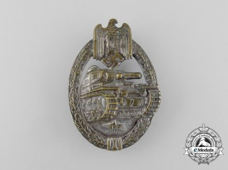 A Second War German Silver Grade Tank Badge; Hollow Version