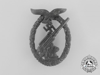 An Luftwaffe Flak-Anti-Aircraft Badge by Ferdinand Wiedmann