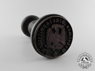 An Ink Stamp of the Seal of the Gestapo (Secret State Police) Office; First Pattern