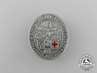 A 1929 Volunteer Red Cross Medical Corps of Dachau Badge