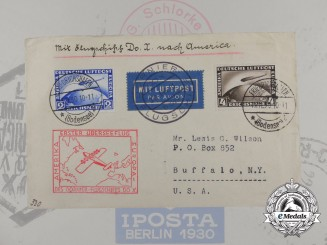 An Envelope Sent on Dornier Do. X's First Transatlantic Flight