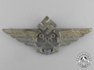 A Kriegsmarine Naval Flight Cap Badge