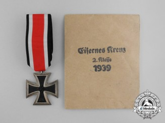 An Iron Cross 1939 Second Class in its Original Packet of Issue by Josef Feix & Söhne