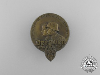 A 1937 NSKOV 3rd Saxon Front Fighting Soldiers and War Victims Remembrance Day Badge
