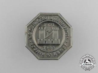 A 1933 12 Years of NSDAP in the Hersbruck Region Badge by C. Balmberger