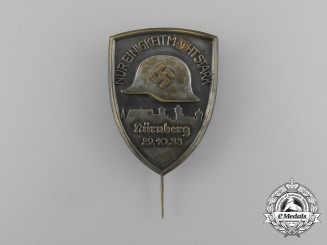 """A 1933 Nürnberg """"Only Unity Makes Us Strong"""" Badge"""