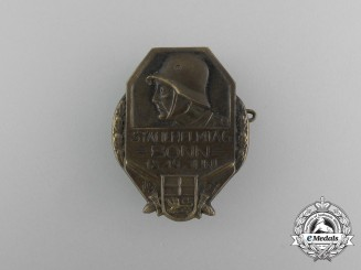 A 1927 Day of the Steel Helmet (Veteran's) Day in Bonn Badge