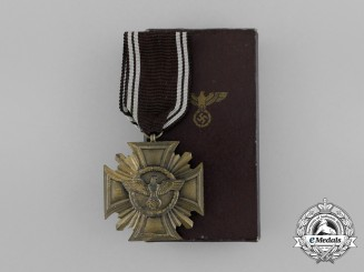 A Boxed NSDAP Bronze 10-Year (3rd Class) Long Service Award by Deschler & Sohn