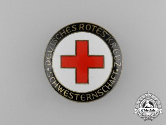An Association of the Sisters of the (DRK) German Red Cross Membership Badge by Klein & Quenzer